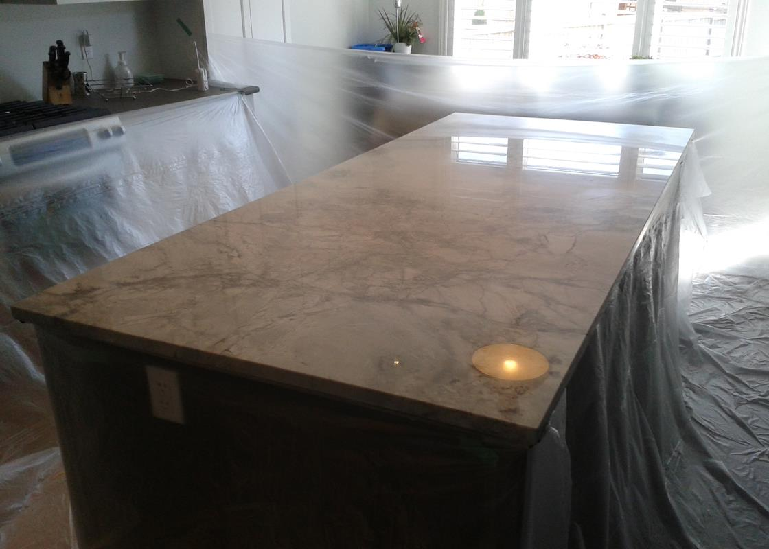 Before: The natural light coming into the room was so bright, your eyes would have to look away and the owners could not enjoy their cherished marble purchase.